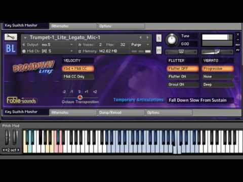 BROADWAY LITES, a new virtual instrument by Fable Sounds - Quick overview