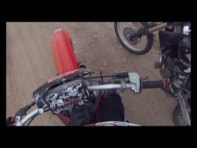 Desert trail riding CR250