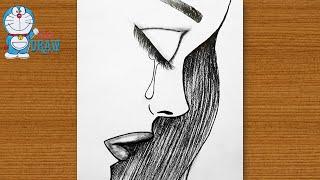 sad crying easy drawing draw very