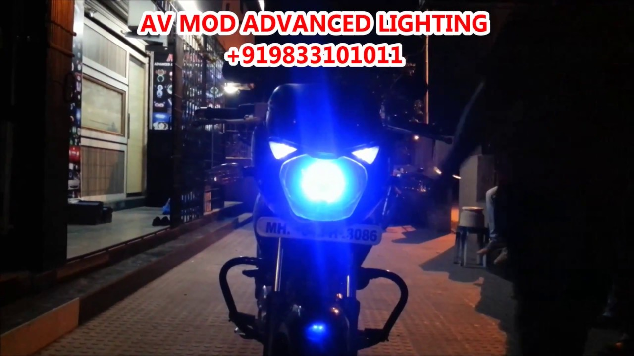 Pulsar Bike Headlight Modification Pulsar 150 Projector Headlight And Dual Tone Tail Light By
