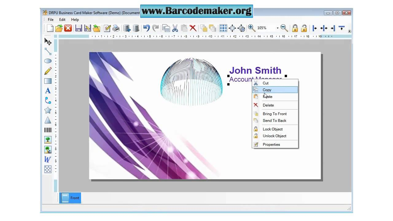 Free business card maker software download how to make for Planning software free