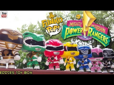 f8cf8fa71d5 Mighty Morphin Power Rangers Funko Pop! Complete Set REVIEW! Go Go Power  Rangers! Eddies Toy Box