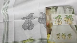 25. ВЫШИВКА КРЕСТОМ.Обзор полотенца от RICO DESIGN.