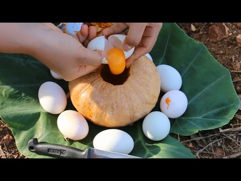 Beautiful Girl Cooking – How To Cook Eggs Egg In Pumpkin My Country – Village Food Factory