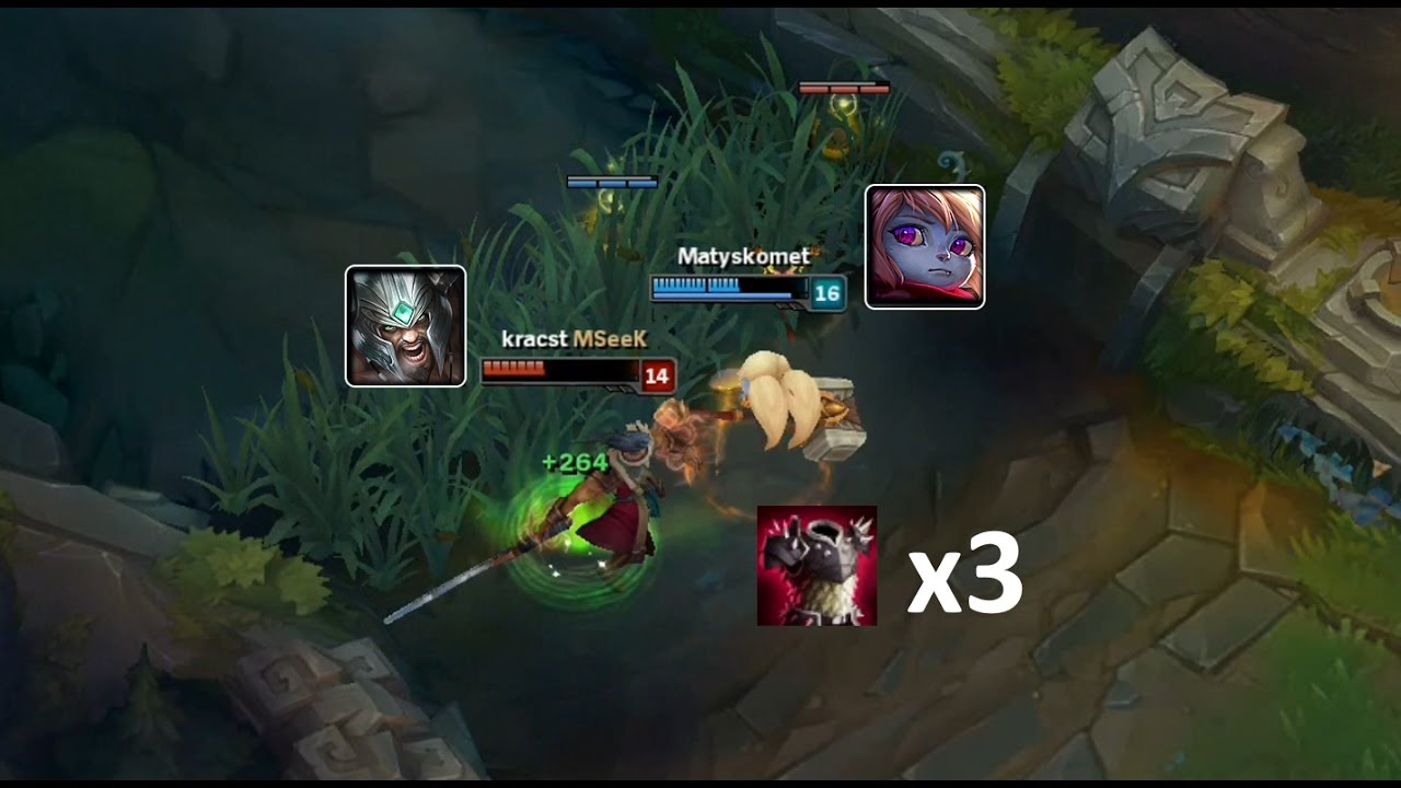 LoL Best Moments #145 Poppy x3 Thornmail vs Tryndamere