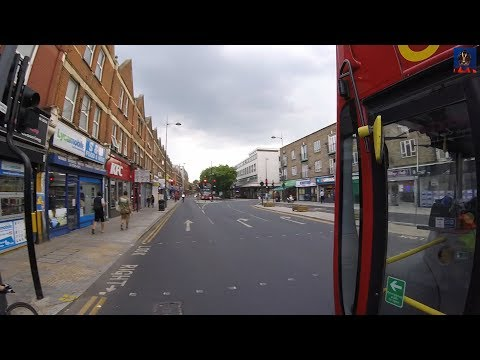 Lane Changing Bus Blocks Cyclist's view of the Traffic Lights - LX03 ECW
