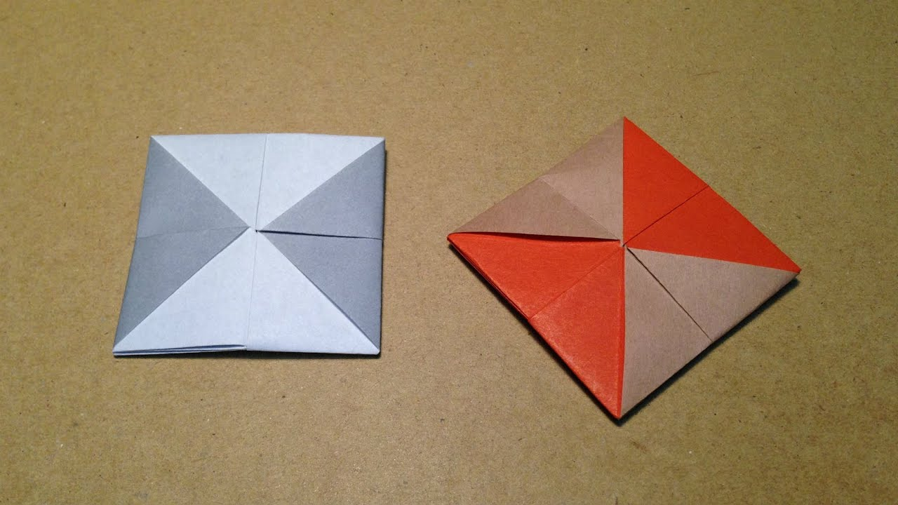 Origami Coaster With One Sheet Of Paper Instructions Tutorial