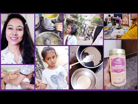 #Vlog || Perfect Massage Oil For Baby In Winter || Organic Tulasi Ginger Tea For Winter || Asha