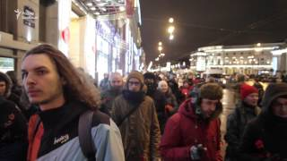 Антифашистское шествие в Петербурге