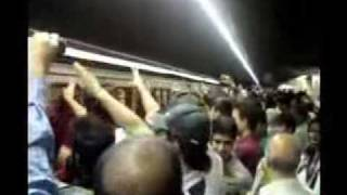 Proteste in IRAN TEHRAN  2009 Mosavi supporters protest in a train station