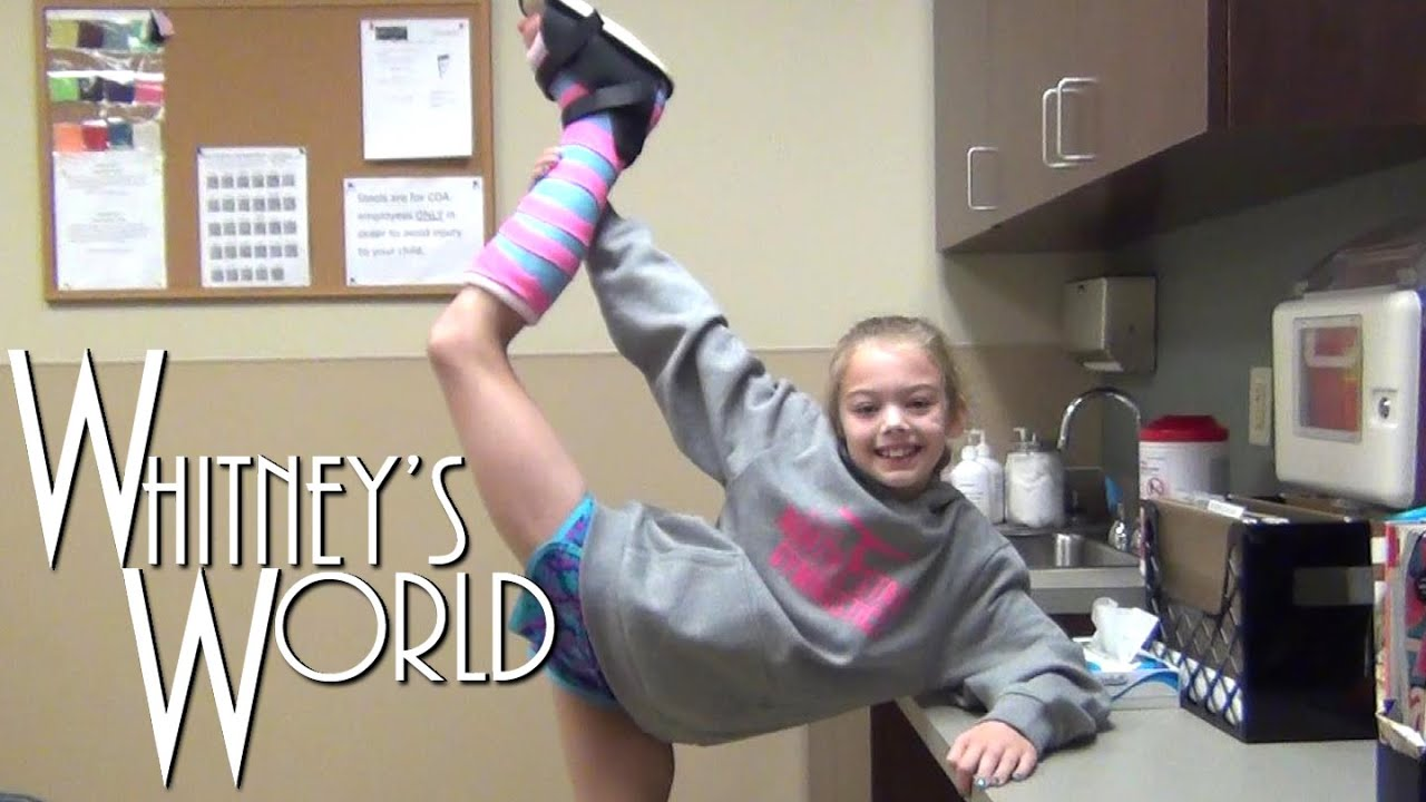 Not a Cast! | Whitney's Ankle Injury - YouTube