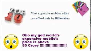 Top 10 world's most expensive smartphones and Unique Mobile phones in the world