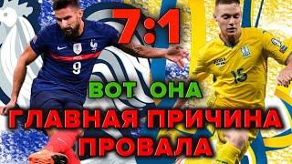 Франция 7 1 Украина Главная причина поражения Новости футбола сегодня