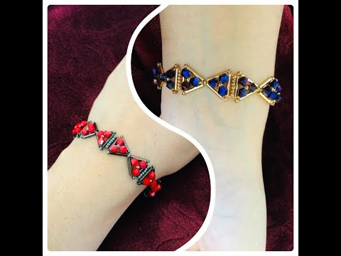 bugle-bow-bracelet-||-how-to-make-beaded-bracelet-||-diy-jewelry