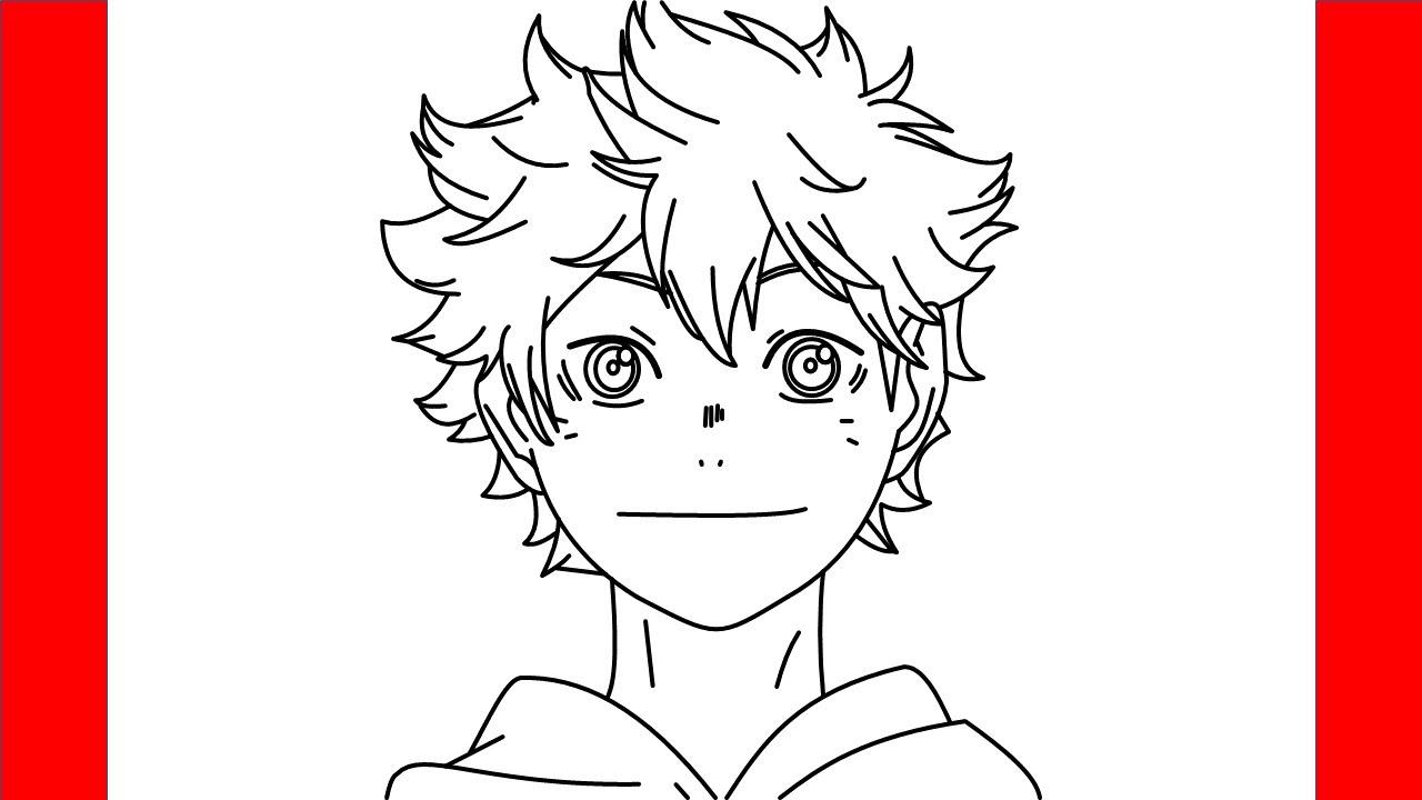 How To Draw Shoyo Hinata From Haikyuu Step By Step Drawing Youtube
