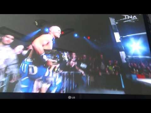 Spud vs Low Ki entrances for Xdivision title match