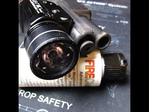 Firearms Maintenance:  Cleaning Weapon Light Lenses