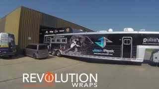 Josh Peek Rodeo Trailer Wrap Omaha Lincoln Nebraska