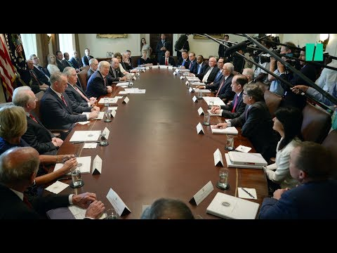 Trump Invites His Employees To Praise Him During Cabinet Meeting