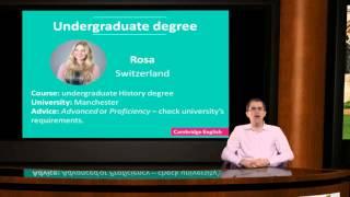 Cambridge English exams for UK university applications