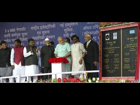 PM Narendra Modi launches various Development Projects in Ranchi, Jharkhand
