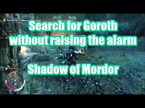 How to Search for Goroth without Raising the Alarm.