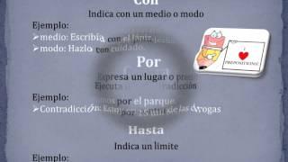 Preposiciones Lenguaje y Comunicacion