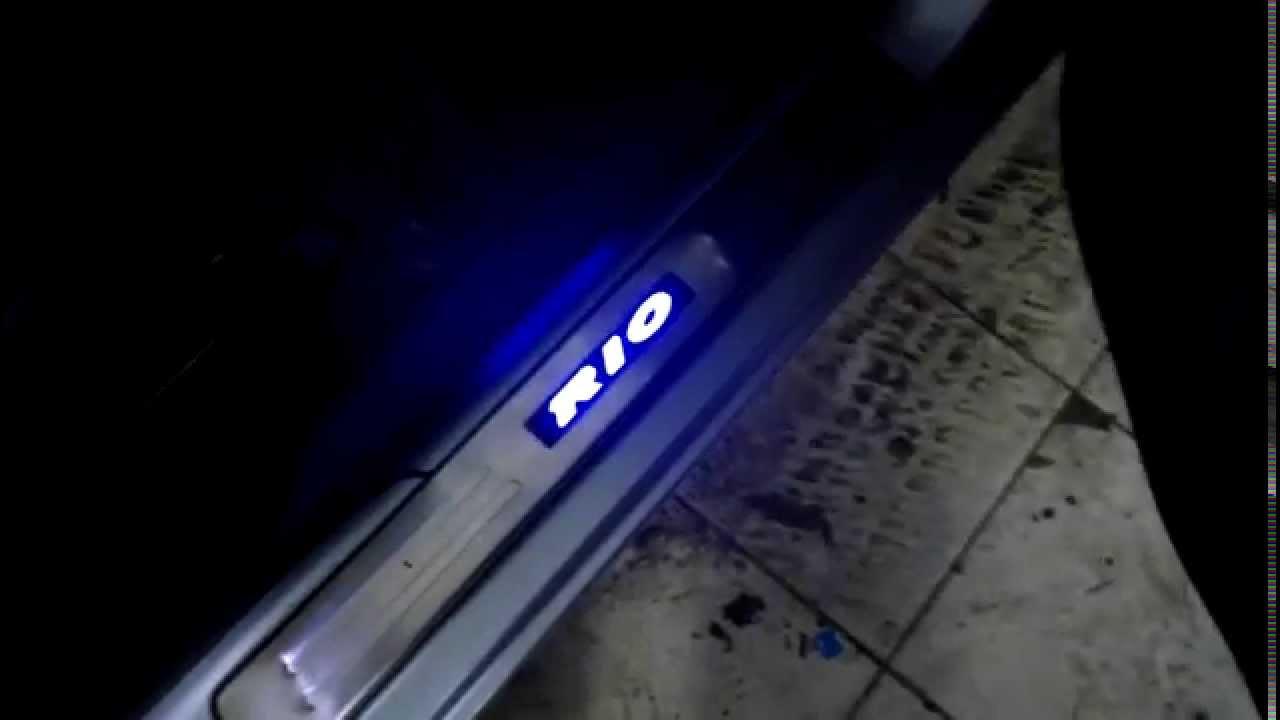 Накладки на пороги с подсветкой Skoda Octavia от cool-acs.ru - YouTube