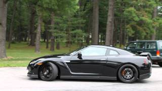Nissan GT-R with HKS Exhaust Startup and Acceleration