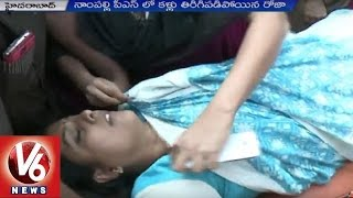 MLA Roja Faints And Admitted In NIMS || Hyderabad || V6 News