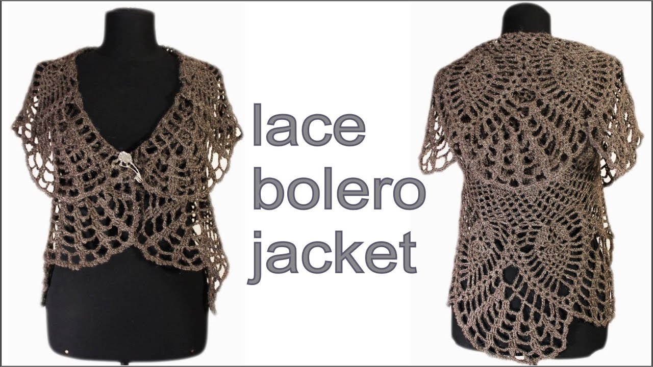 How to crochet lace bolero jacket chaleco part 1 free pattern how to crochet lace bolero jacket chaleco part 1 free pattern tutorial youtube bankloansurffo Choice Image