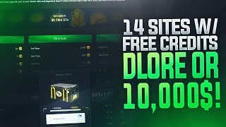 TOP 14 WEBSITES FOR DAILY FREE SKINS! (CHANCE OF WINNING A DRAGON LORE OR 10000$) Video