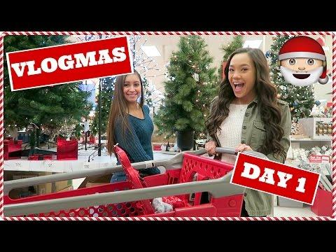 CHRISTMAS SHOPPING AT TARGET! Vlogmas Day 1 2016