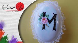 Letra com Flor em Sabonete – Sonalupinturas
