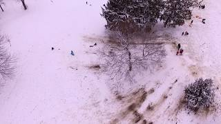 Garfield Park (Indianapolis) Snow Sledding January 2019
