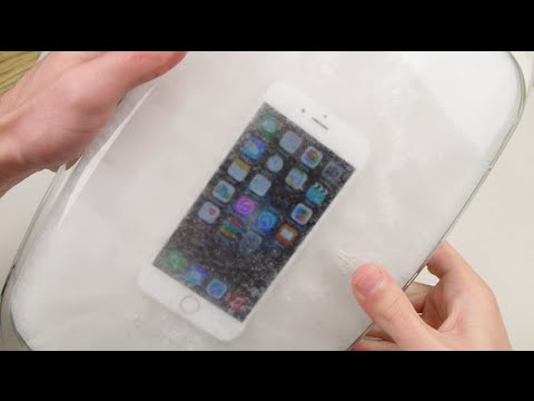 what to do when your iphone freezes dipping an iphone 6 in freeze test 7363