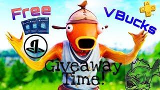 PlayStation Gift Card GiveAway!! Fortnite Live!!