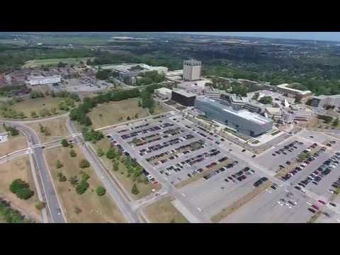 Brock University Ontario Canada from Above HD phantom 4 July 2016
