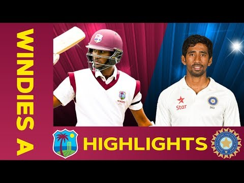 West Indies A Vs India A - Match Highlights   1st Test - Day 1   India A Tour Of West Indies