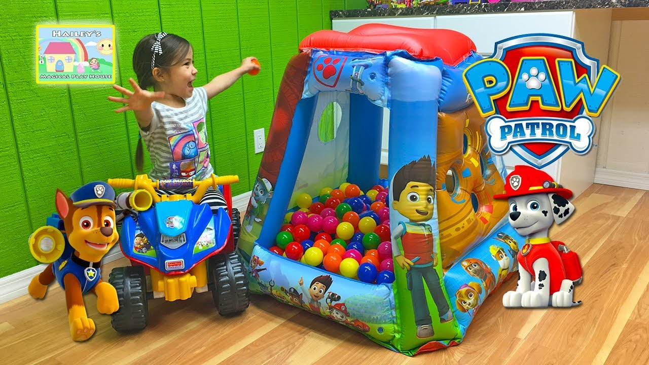 Giant Paw Patrol Surprise Toys Ball Pit Tent u0026 Nick Jr Paw Patrol Surprise Egg Opening Toy Review - YouTube  sc 1 st  YouTube & Giant Paw Patrol Surprise Toys Ball Pit Tent u0026 Nick Jr Paw Patrol ...
