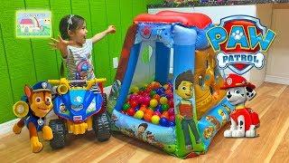 Giant Paw Patrol Surprise Toys Ball Pit Tent! Paw Patrol Toys