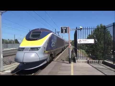 (HD) Eurostar and TGVs at Avignon TGV / Eurostar et TGV à Avignon TGV | 16/07/2016