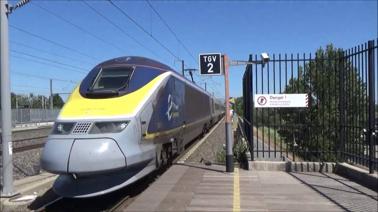 hd eurostar and tgvs at avignon tgv eurostar et tgv avignon tgv 16 07 2016 youtube. Black Bedroom Furniture Sets. Home Design Ideas