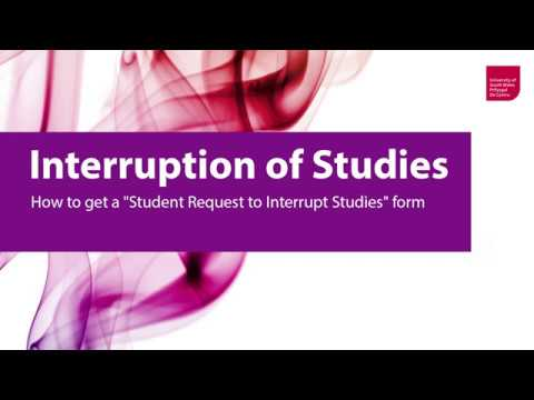 Interruption Of Studies University Of South Wales