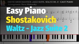 Jazz Suite No. 2: Waltz by Shostakovich - Easy Version for Piano