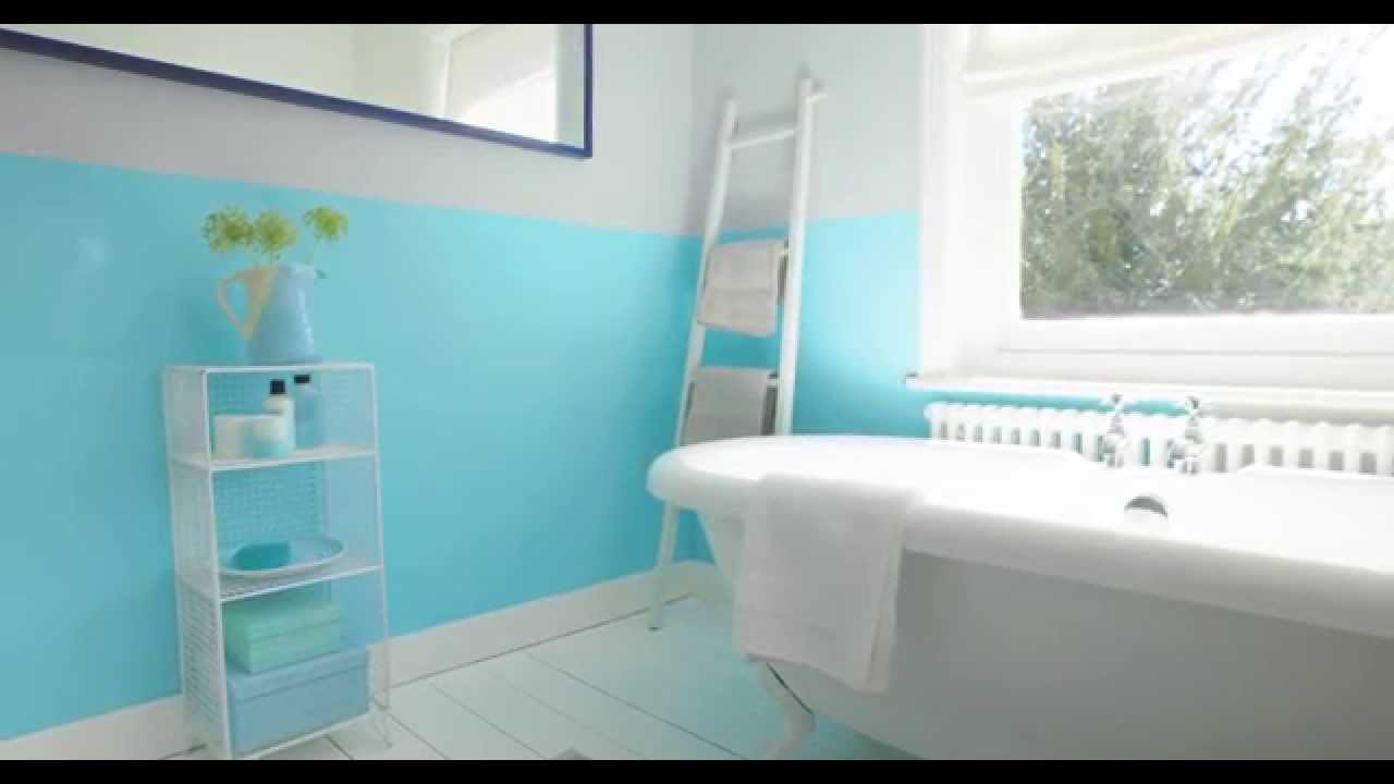 White Bathroom Paint Dulux bathroom ideas: using aquamarine blue - dulux - youtube