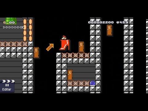 Haciendo una fase en Super Mario Maker - Mecánicas puzzleras / Puertas / P-Switches #SuperMarioMaker