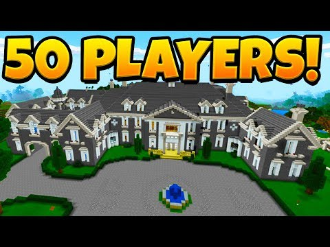 100 PLAYERS BUILD THE BIGGEST MINECRAFT HOUSE EVER!