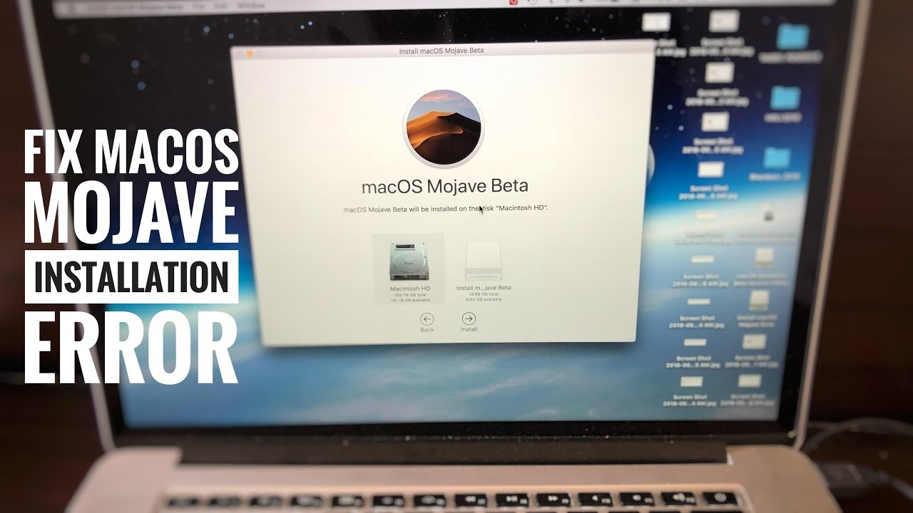 mac os mojave download error