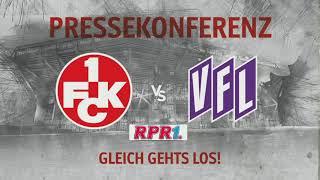 Pressekonferenz vor dem Heimspiel gegen den VfL Osnabrück